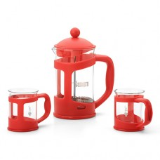 "Френч-пресс Bialetti ""Set Coffee press RED"" +2 mug 1 л 4651"
